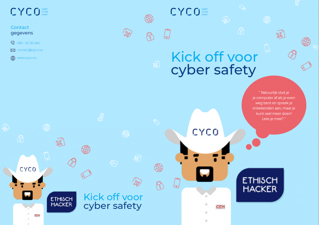 Folder kick-ff voor cybersafety
