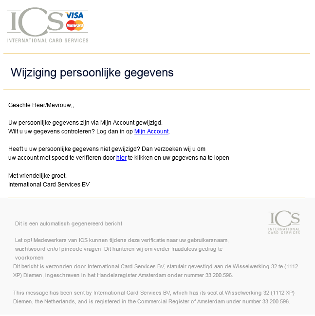 Phishing mail ICS cards - 1