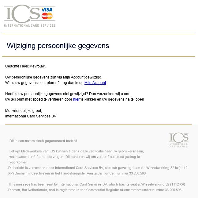 Phishing mail ICS cards - 1